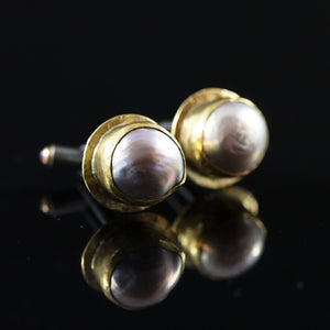 Pearl & Gold Cufflinks III