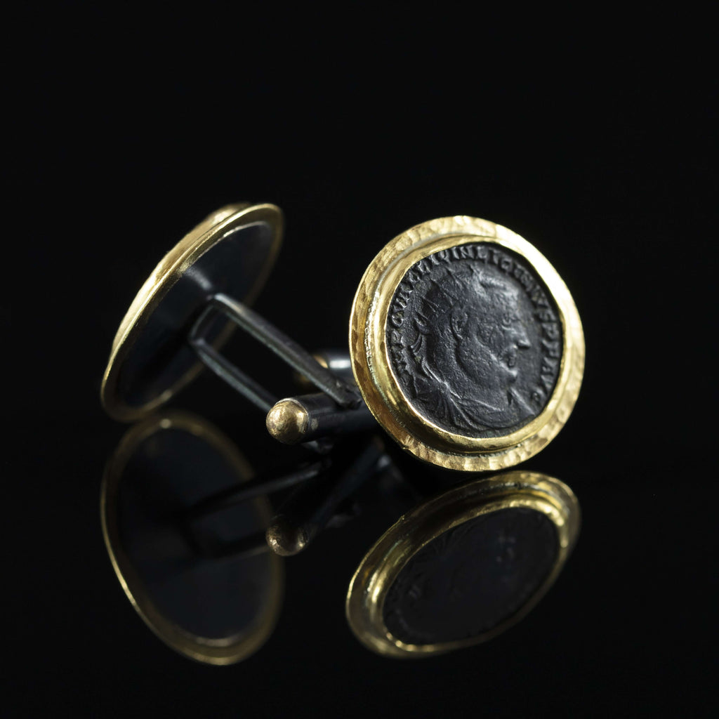 Emperor Licinius I Gold Cufflinks
