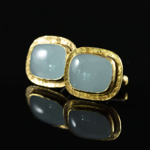 Aquamarine & Gold Cufflinks I