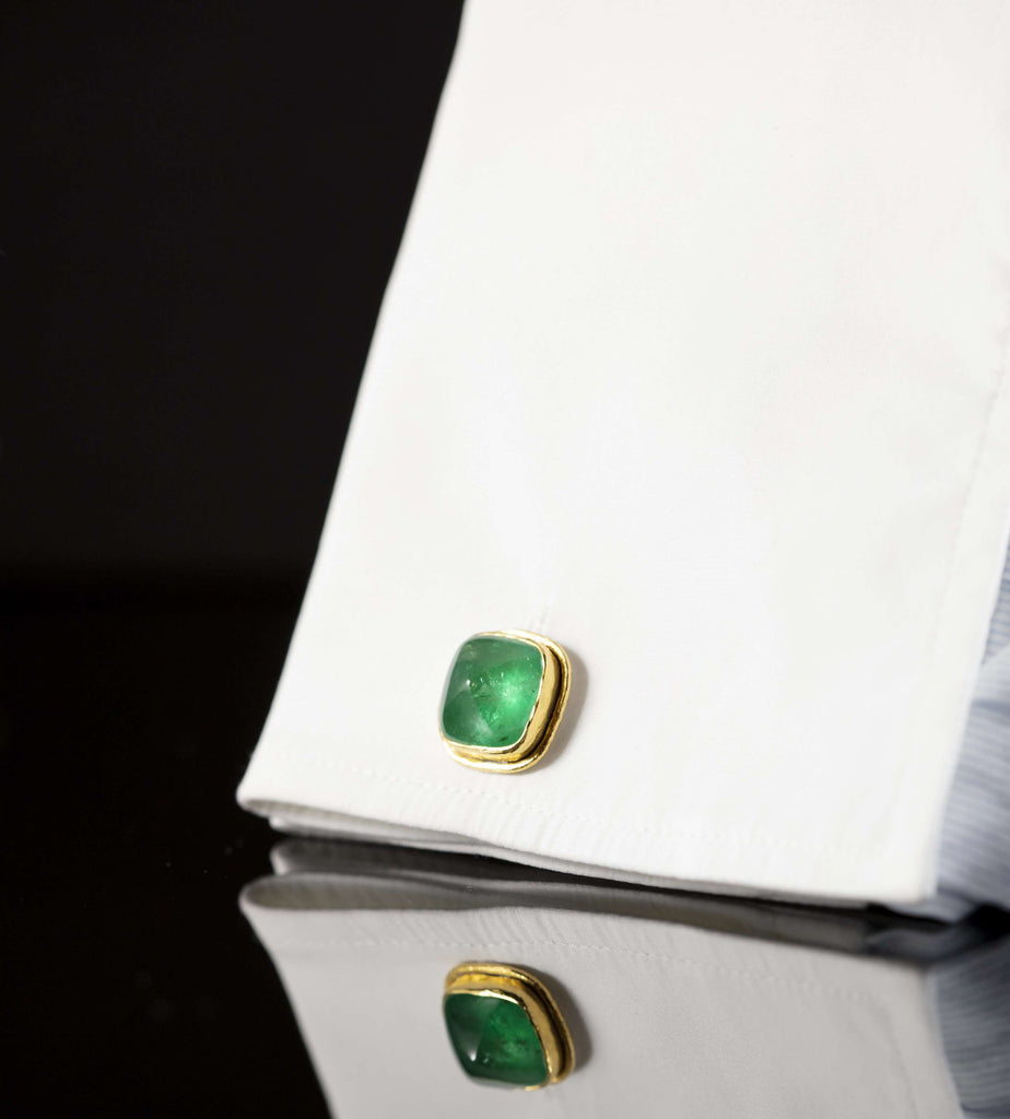 Emerald & Gold Cufflinks II