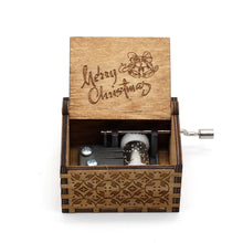 Load image into Gallery viewer, We Wish You A Merry Christmas Wooden Music Box