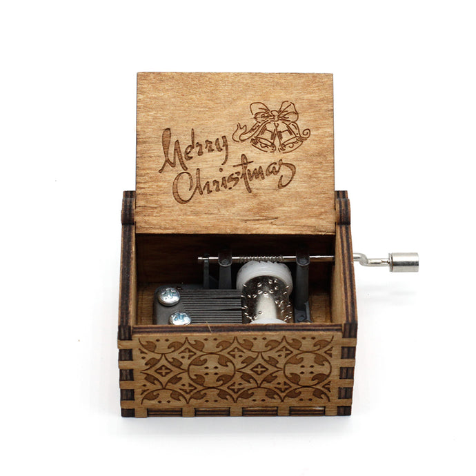 We Wish You A Merry Christmas Wooden Music Box