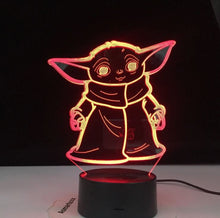 Load image into Gallery viewer, Baby Yoda 3D LED Lamp