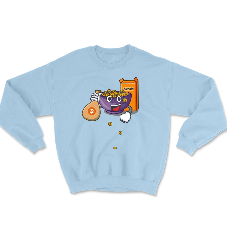Bitcoin Cereal Sweatshirt - Black Cat Crypto