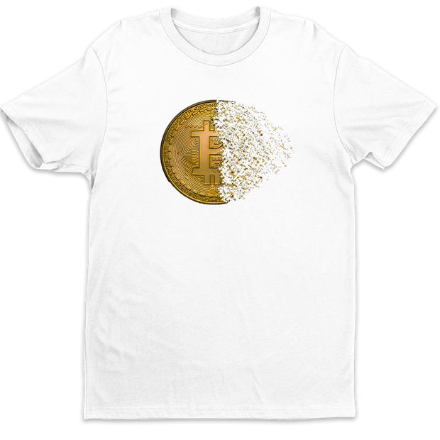 Bitcoin Halving Shirt | White - Black Cat Crypto Clothing
