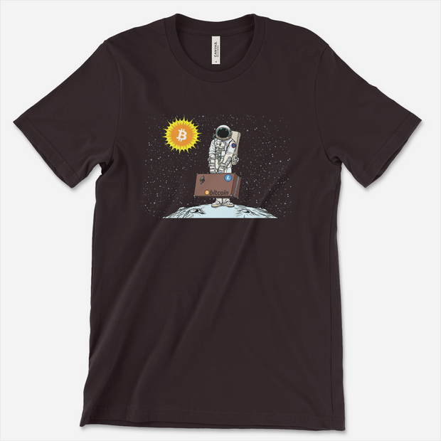 Man on the Moon | Bitcoin shirt - Black Cat Crypto Clothing