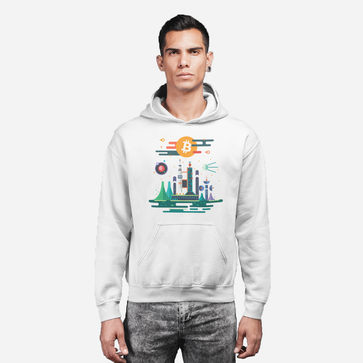 Space City | Bitcoin Hoodie - Black Cat Crypto