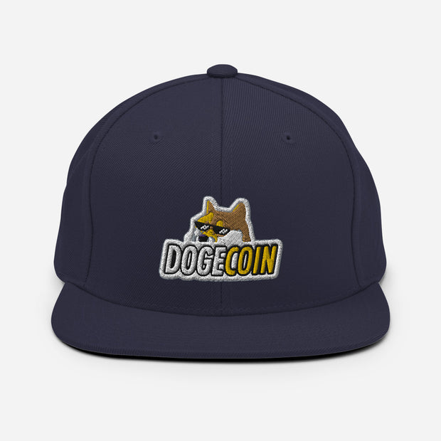 Dogecoin Hat Shades - Black Cat Crypto