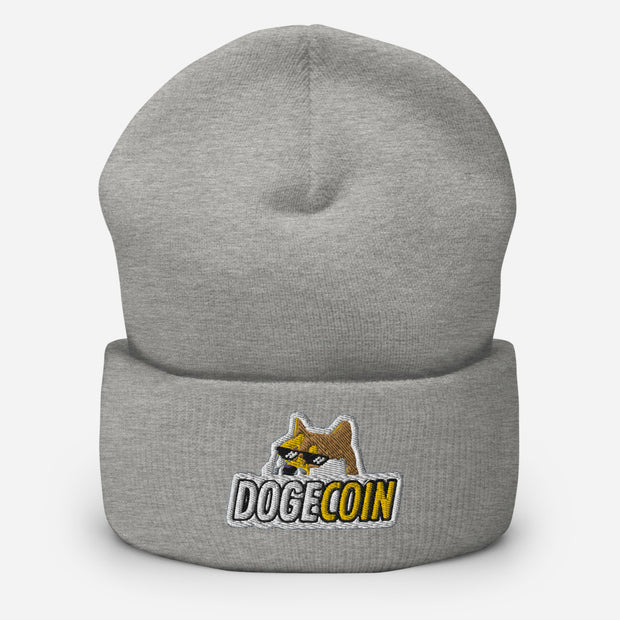 Dogecoin Beanie Shades - Black Cat Crypto