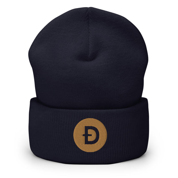 Dogecoin Beanie - Black Cat Crypto