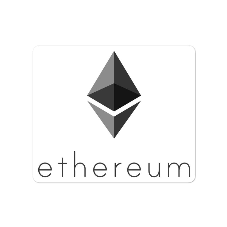 Ethereum Sticker-ethereum shirt-blackcatcrypto.com