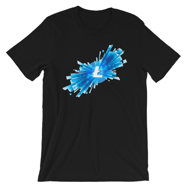 Litecoin Blast Shirt - Black Cat Crypto Clothing