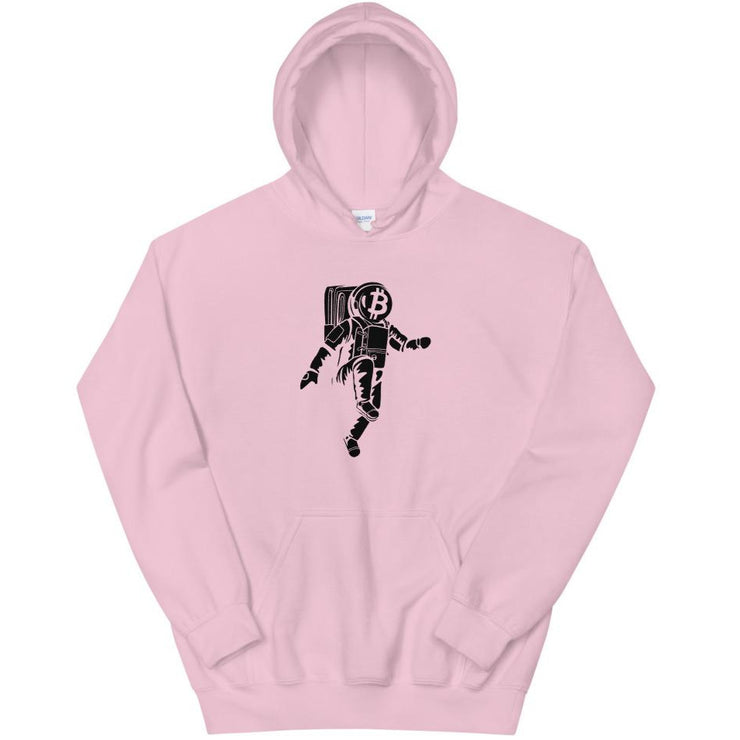 Moon Walking Pink Bitcoin Hoodie Black Cat Crypto Bitcoin Clothing