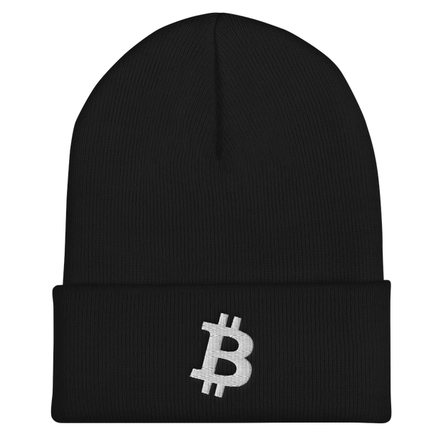 Bitcoin Beanie Black - Black Cat Crypto