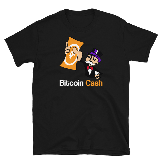 Monopoly Man | Bitcoin Cash Shirt - Black Cat Crypto Clothing