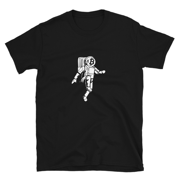 Moon Walking | Bitcoin Shirt | Black - Black Cat Crypto Clothing