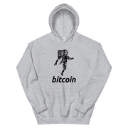 Moon Walking Bitcoin Hoodie - Black Cat Crypto Clothing