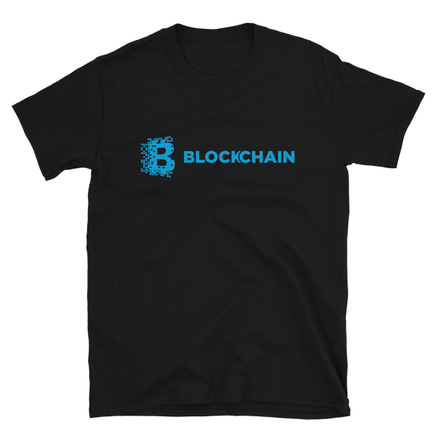 Original Blockchain Shirt Aqua - Black Cat Crypto Clothing