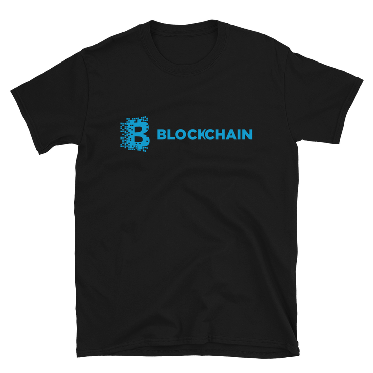 Original Blockchain Shirt Aqua - Black Cat Crypto