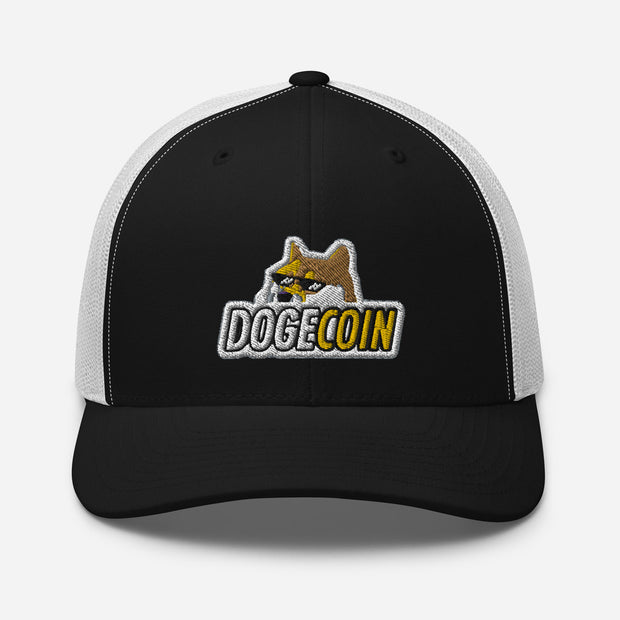 Dogecoin Trucker Cap - Black Cat Crypto