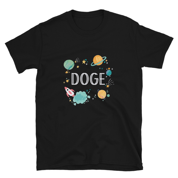 Galaxy Dogecoin Shirt - Black Cat Crypto