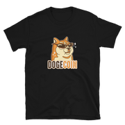 Dogecoin Shirt Brown Glasses - Black Cat Crypto