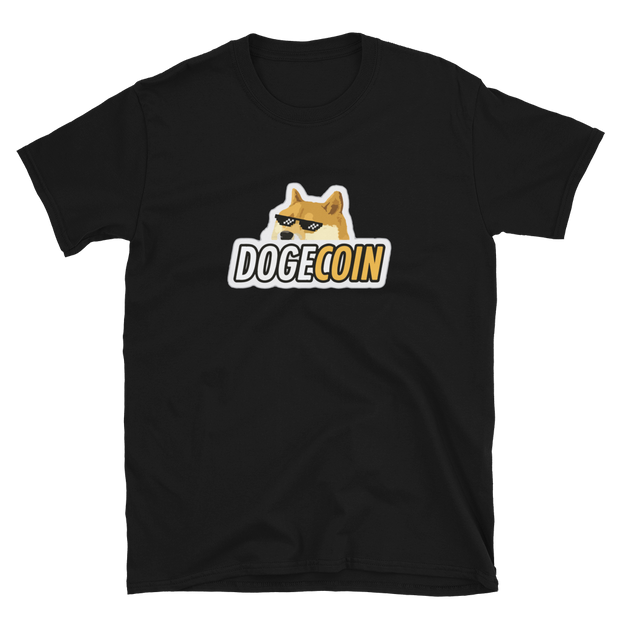 Dodgecoin Rocking Glasses Tee - Black Cat Crypto