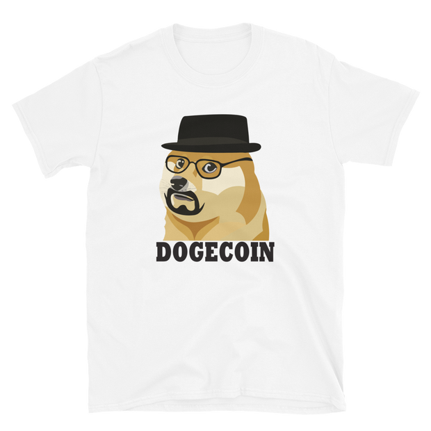 Top Hat Dogecoin Shirt - Black Cat Crypto