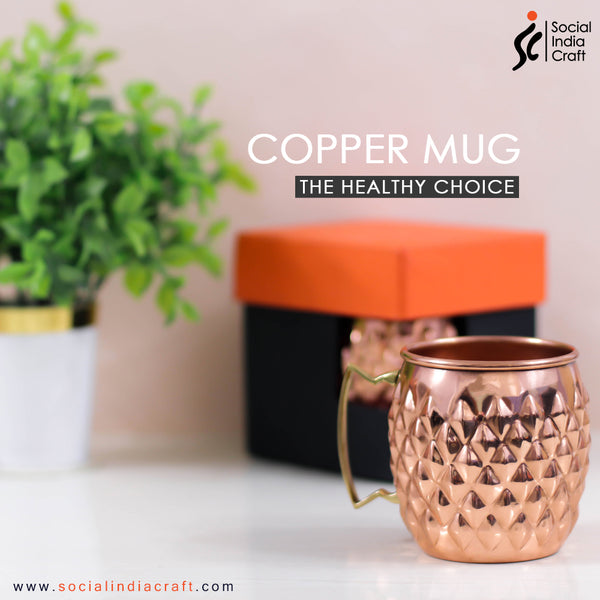 Copper Diamond Mug