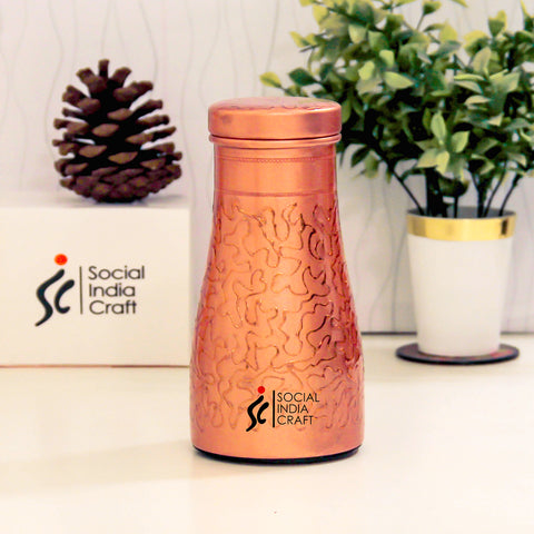 Etched Copper Carafe