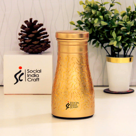Etched Gold Carafe