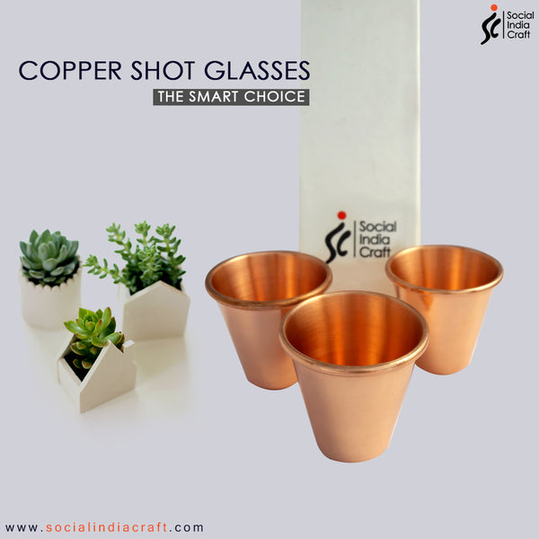 Copper Shot Glass Six Piece Set