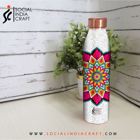 Lotus Mandala Sleek Bottle