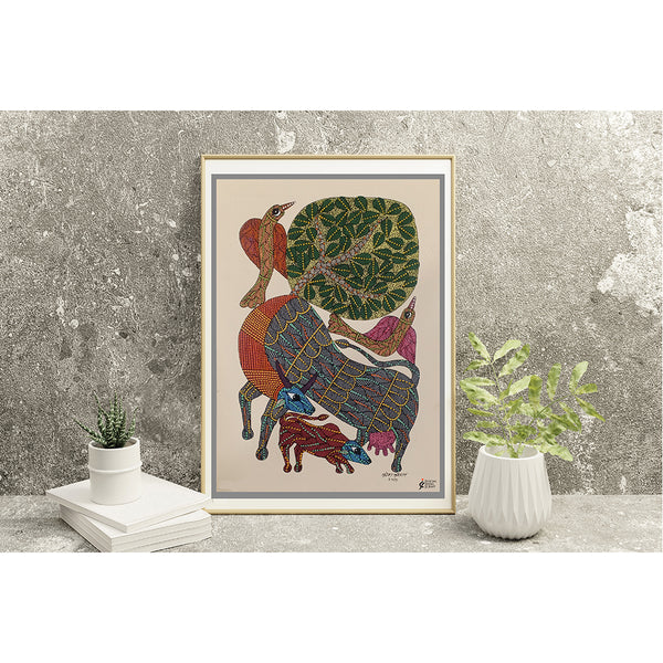 Blissful Love | Gond Art - Social India Craft