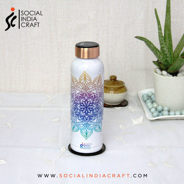 White Mandala Designer Bottle