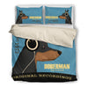 Doberman  2010 Headphones Bedding duvet 2
