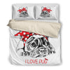 Pug Bedding duvet 219Vs1