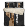 Weimaraner Half Face Bedding Set 1610s1