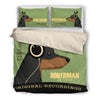 Doberman 2010 Headphones Bedding duvet 3