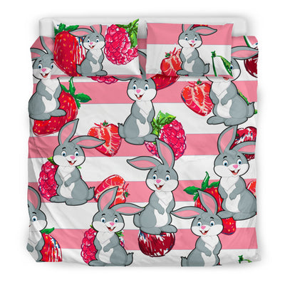 Ottedesign rabbit bedding set, beige, cherry