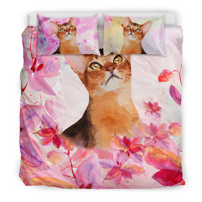 Ottedesign abyssinian bedding set, beige, cherry blossom