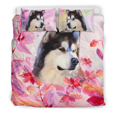 Ottedesign husky bedding set, beige, cherry blossom