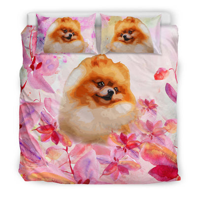 Ottedesign pomeranian bedding set, beige, cherry blossom