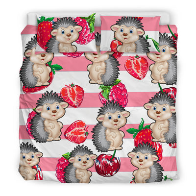 Ottedesign hedgehog bedding set, beige, strawberry