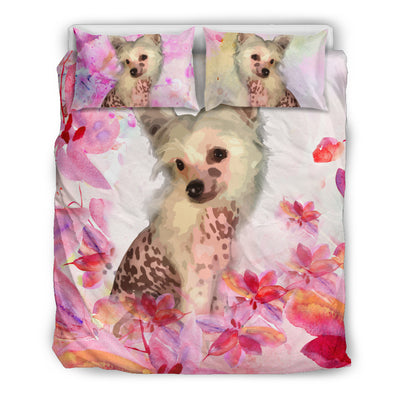 OTTEDESIGN Chinese crested BEDDING SET, BEIGE