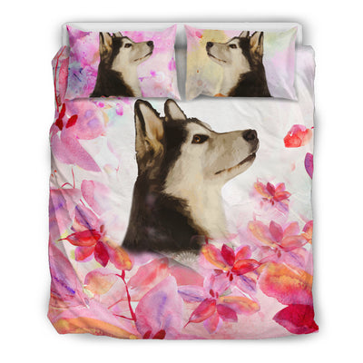 Ottedesign labrador bedding set, beige, cherry blossom