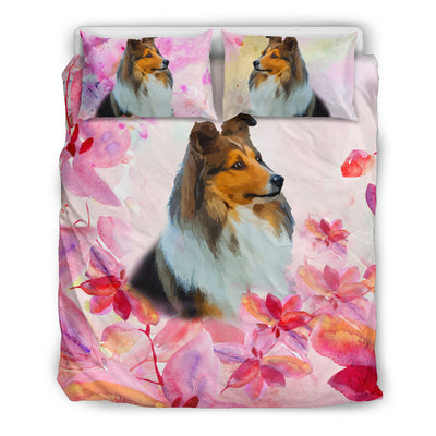 Ottedesign sheltie bedding set, beige, cherry blossom