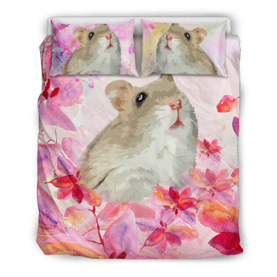 Ottedesign hamster bedding set, beige, cherry blossom
