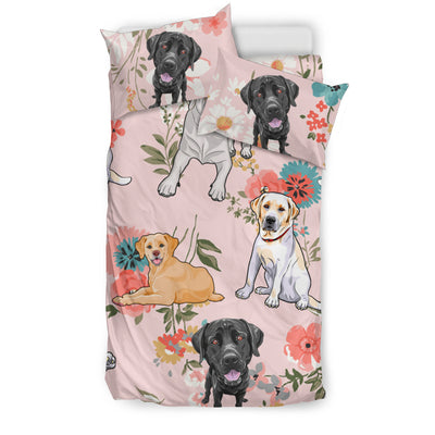 OTTEDESIGN labrador BEDDING SET, BEIGE (tropical)