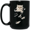 Persian Cat Black Mug